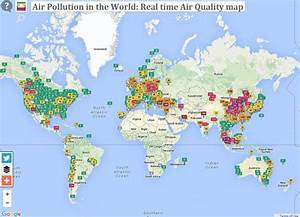Carte Pollution Air : une carte interactive montre les villes les plus pollu es au monde en direct ~ Medecine-chirurgie-esthetiques.com Avis de Voitures