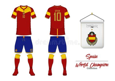 Soccer Jersey Or Football Kit. Spain Football National