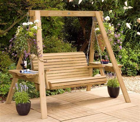 garden swings  enchanting element   backyard