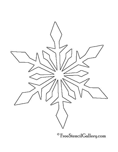 free snowflake template 9 best images of snowflake printable stencils printable