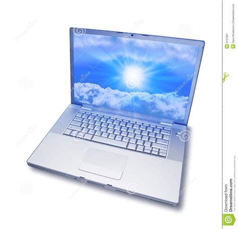 Computer Image Laptop Computer Cloud Computing Royalty Free Stock