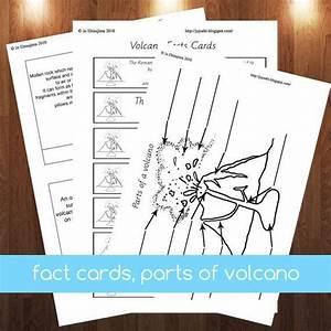 Volcano Montessori 3 Part Cards Pdf Parts Of Volcano Cards