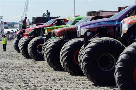 wildwood monster truck show monster trucks tear up the beach in wildwood breaking