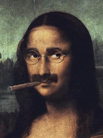 Mona Lisa Gifs Leonardo Vinci Animated Groucho