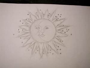 S - SUN & MOON DRAWING (pencil) | Doodly Woodles | Pinterest