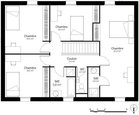 plan maison à étage 4 chambres plan maison bastide ooreka