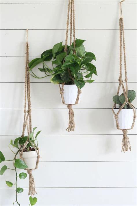simple diy macrame plant hanger  video tutorial