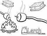 Smores Coloring Clip Clipart Pages Mores Marshmallow Rv Camping Sisters Marshmallows Fire Random Camp Preschool Printable Campfire Pa Google Lesson sketch template