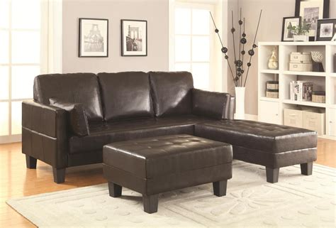 brown leather sofa bed  ottoman set steal  sofa