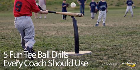fun tee ball drills  coach