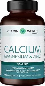 Calcium Magnesium Zinc Mineral Supplement At Vitamin World