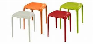Petit Tabouret Pas Cher : tabouret de jardin azuro rouge lot de 2 commandez nos tabourets de jardin azuro rouges lot ~ Teatrodelosmanantiales.com Idées de Décoration