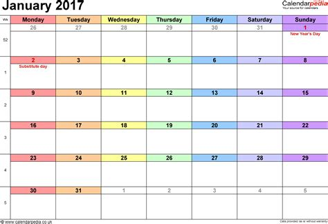 calendar january uk bank holidays excelpdfword templates
