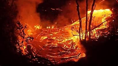 Flowing Lava Scorch Earth Hawaii Volcano Sploid