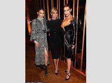 Gigi Hadid and Bella Hadid with mom Yolanda Foster in NYC