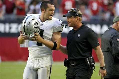 Derek Carr, Jon Gruden rapport a source for Raiders hope ...