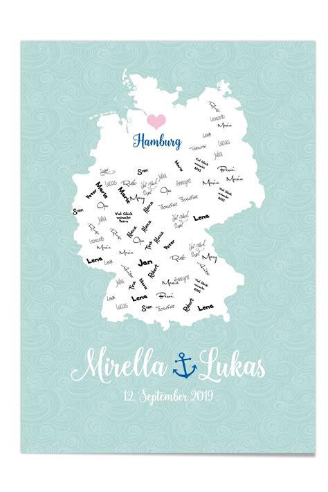 Gästebuch Poster zur Hochzeit DesignGrusskarten