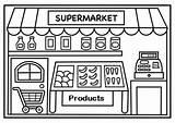 Supermarket Coloring Shopping Pages Dibujo Coloringpagesfortoddlers Infantil Sheets Preschool Building Lectura Children Actividades Educacion Escritura Fun Aliens Comunidad Espanol Ayudantes sketch template