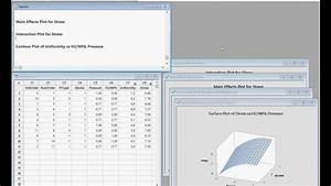 Minitab Design Of Experiments Doe Response Surface Example