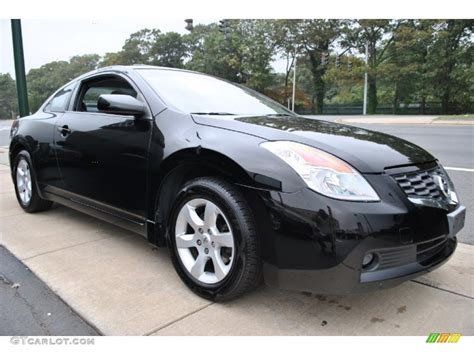 nissan altima black super black 2008 nissan altima 2 5 s coupe exterior photo