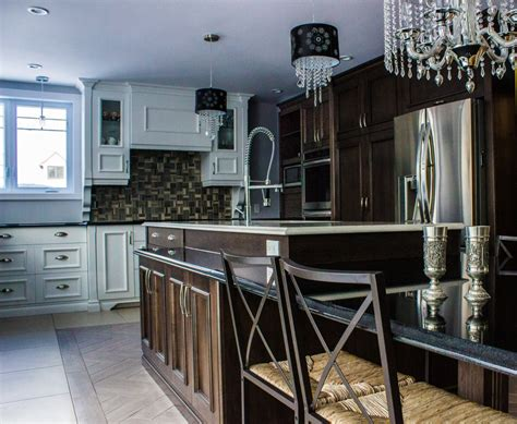 cuisine erable armoires de cuisine en bois d 39 érable îlot en granit