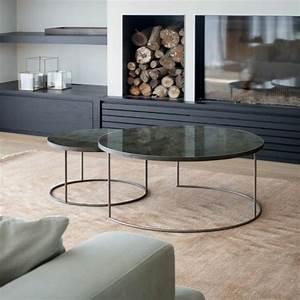 Table Basse Ronde Marbre : table basse en marbre 58 id es pour donner du style au salon ~ Teatrodelosmanantiales.com Idées de Décoration