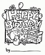 Birthday Coloring Happy Card Pages Cards Printable Boy Printables Holidays Wuppsy Print Colouring Holiday Boys Nice Drawing Anniversary Children Cake sketch template