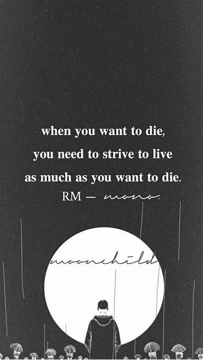 Bts Rm Lyrics Desktop Quotes Wallpapers Moonchild