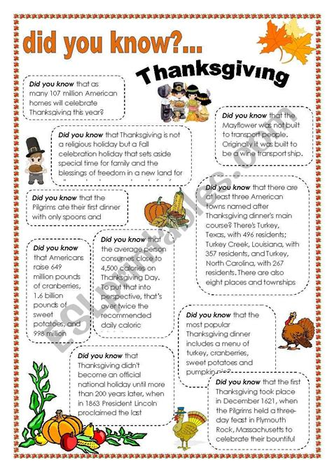 esl thanksgiving worksheets adults db excelcom