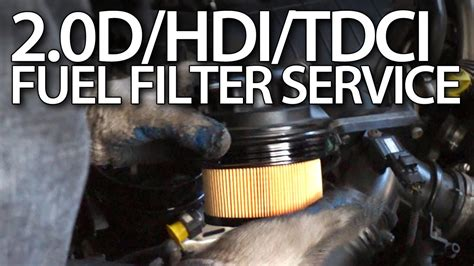 change fuel filter  volvo  ford tdci