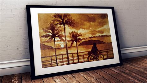 Why am i writing this art tutorial today? COFFEE PAINTING FOR BEGINNERS   HOW TO DRAW EASY VILLAGE SCENERY LANDSCAPE PAINTING STEP BY STEP ...