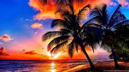 Tropical Beaches Nature Desktop Sunrise Background Scenery