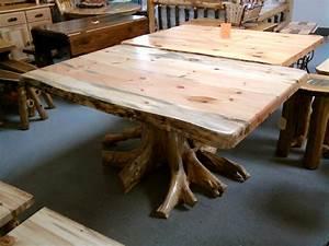 [ White Cedar Log Dining Room ] - Best Free Home Design