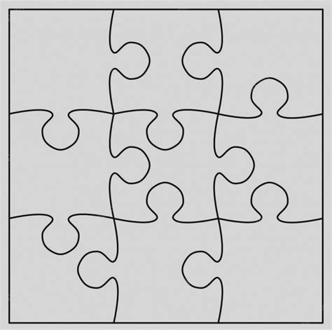 Collection Large Blank Puzzle Pieces Template Printable