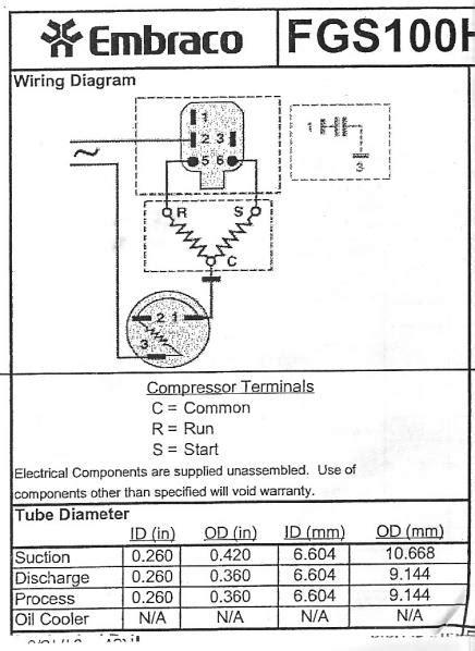 wiring  refrigerator compressor doityourselfcom