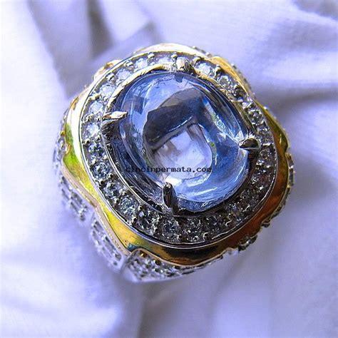 batu permata natural light blue safir cincinpermata jual batu permata batu mulia asli
