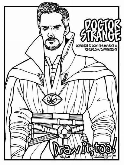 Coloring Strange Dr Doctor Pages Marvel Colors