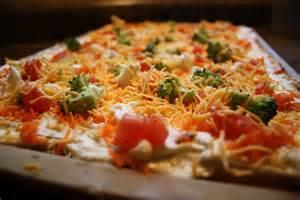 Fresh Veggie Pizza with Cream Cheese
