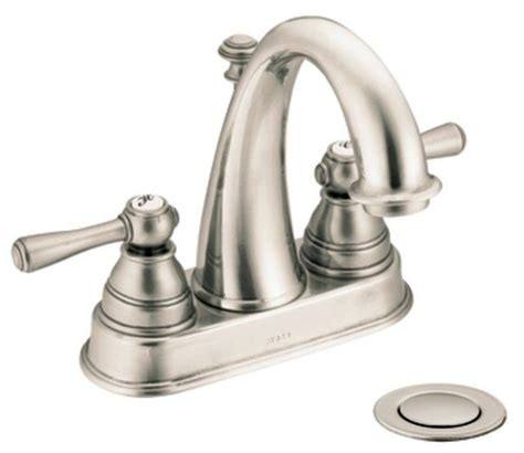 moen kingsley 2 handle bathroom faucet moen 6121an kingsley two handle high arc bathroom faucet
