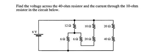 Solved Find The Voltage Across Ohm Resistor