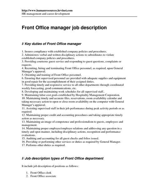 front desk associate job description best photos of office manager job description medical