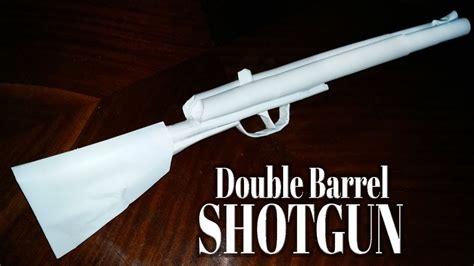 paper double barrel shotgun  shoots
