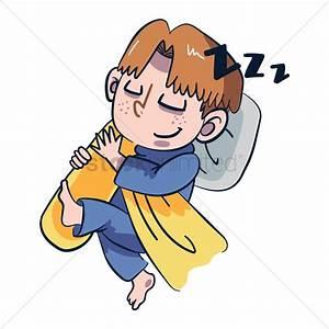 Cartoon character sleeping Vector Image - 1957487 ...