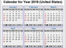 March 2019 Holiday Calendar USA Free Printable 2018 Year
