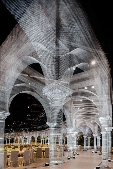 Wire Mesh Installation Features Architectural Fragments