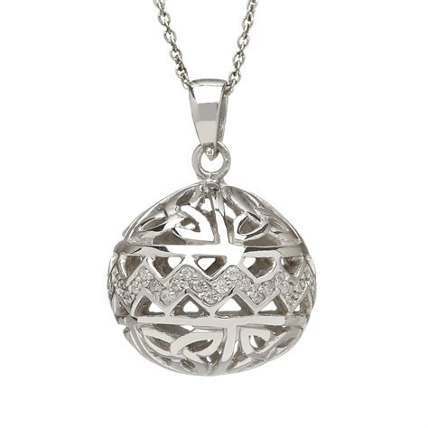sterling silver celtic ball pendant