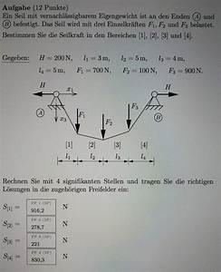 Thermische Leistung Berechnen : seilbahn seilkr fte berechnen seil ohne eigengewicht 4 kr fte nanolounge ~ Themetempest.com Abrechnung