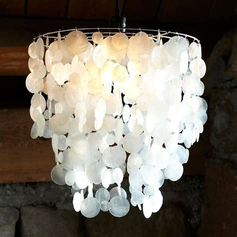 west elm chandelier faux capiz shell chandelier charleston crafted