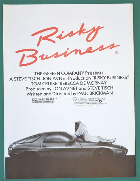 risky business original  page cinema exhibitors campaign