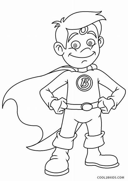 Coloring Superhero Printable Boy Cool2bkids